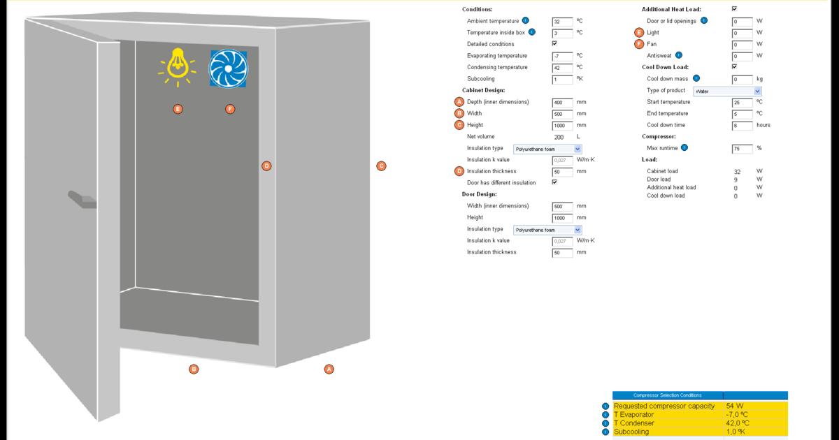Secop Heat Load Calculation Software   Secop