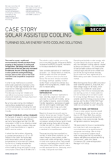 Solar Assisted Cooling
