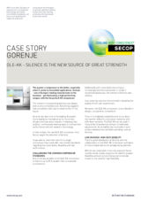 Gorenje – DLE-KK – Silence is the New Source of Great Strength